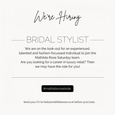 Bridal Stylist Opportunity