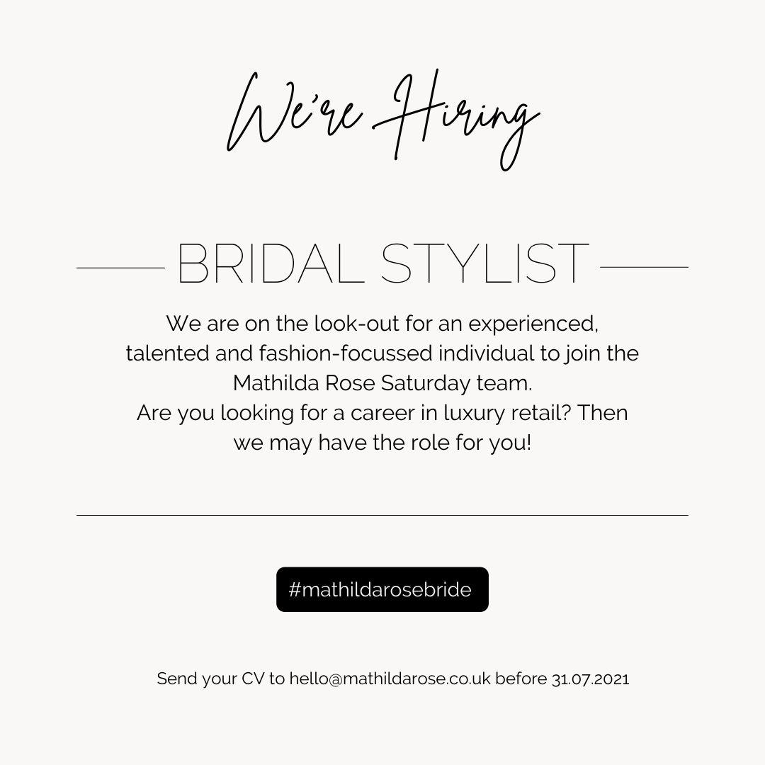 bridal stylist part time job