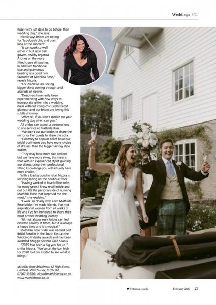 Mathilda Rose Lindfield Sussex bridal boutique