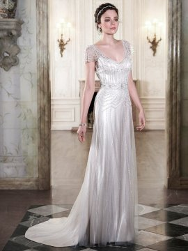"Maggie Sottero ""Ettia"" (Champagne) Wedding Dress UK8"
