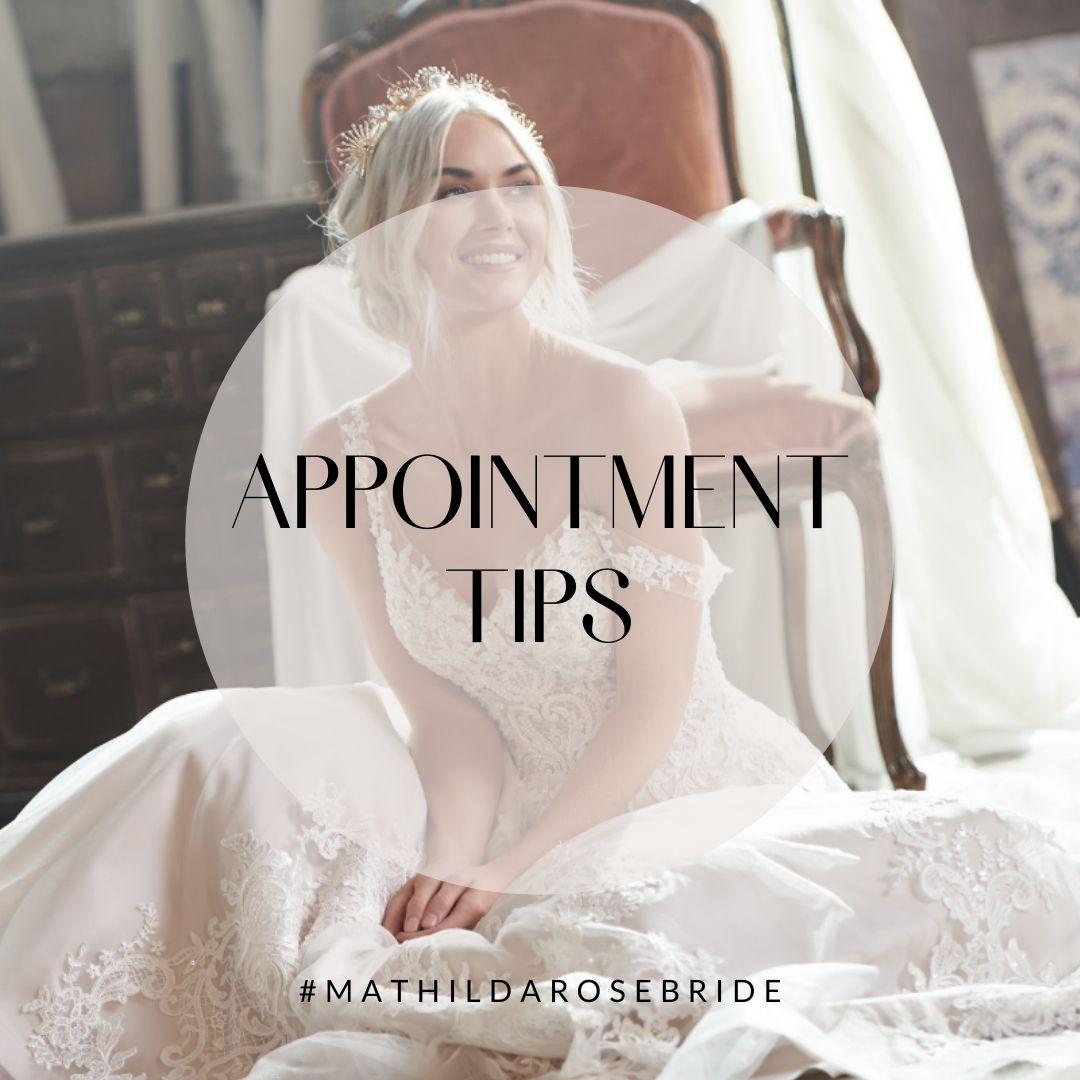 Mathilda Rose wedding dress shopping appointment tips