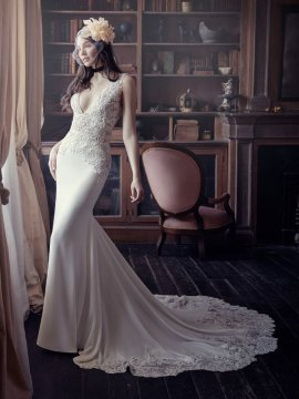 "Maggie sottero ""Aidan"" Wedding Dress UK12"