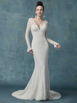 "Maggie Sottero ""Antonia"" Wedding Dress UK16"