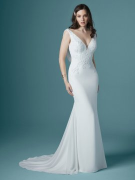 "Maggie Sottero ""Bertina"" Wedding Dress UK12"