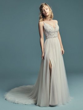 "Maggie Sottero ""Charlene"" Wedding Dress UK12"