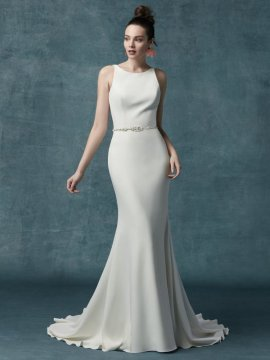 "Maggie Sottero ""Claudia Dawn"" Wedding Dress UK12"