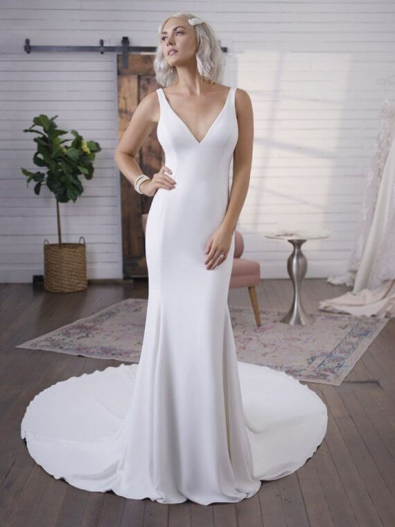 cheap crepe maggie sottero sample sale fernanda wedding dress