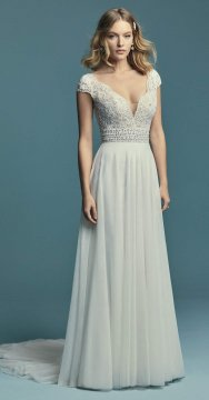 "Maggie Sottero ""Monarch"" Wedding Dress UK10"