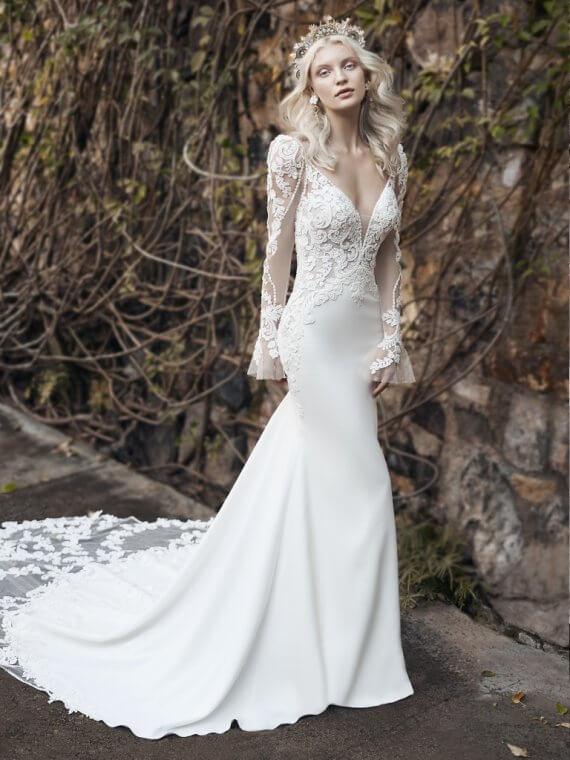 Maggie sottero nikki sample sale wedding dress