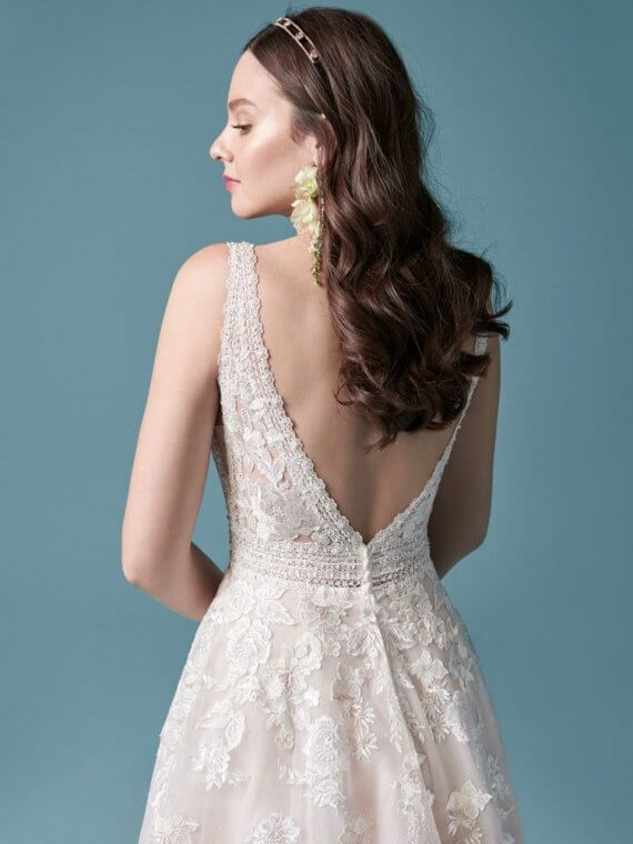 Maggie Sottero lace Aline wedding dress sussex raphael dawn