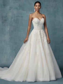 """Maggie Sottero """"Sakura"""" Wedding Dress UK14"""