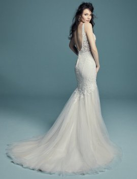"Maggie Sottero ""Tanner"" Wedding Dress UK12"
