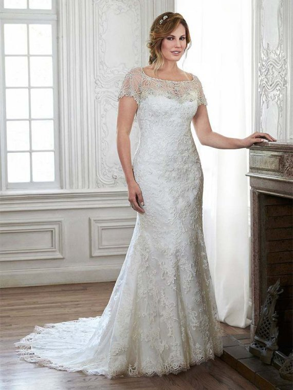 Maggie Sottero lace strapless wedding dress with beaded jacket chesney