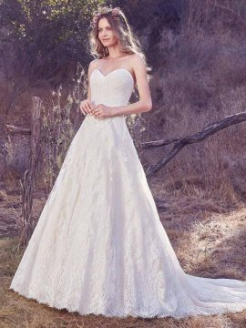 "Maggie Sottero ""Olea"" Wedding Dress UK12"