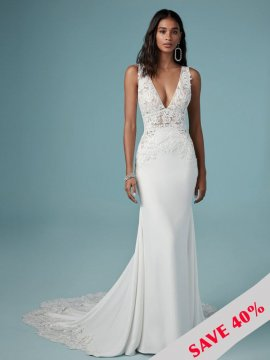 "Maggie Sottero ""Aidan"" Wedding Dress UK16"