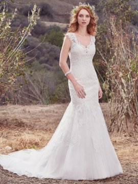 "Maggie Sottero ""Nara"" Wedding Dress UK12"