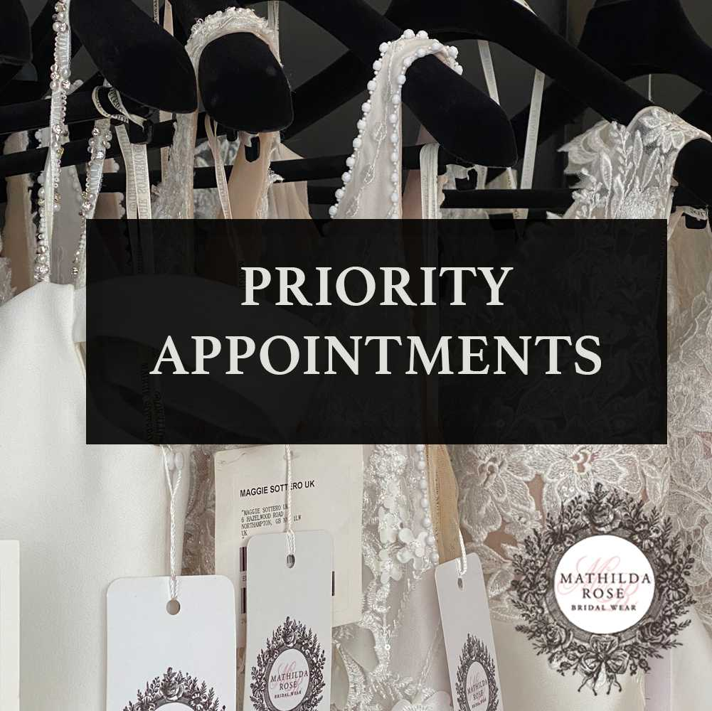 priority urgent wedding dress appointments sussex