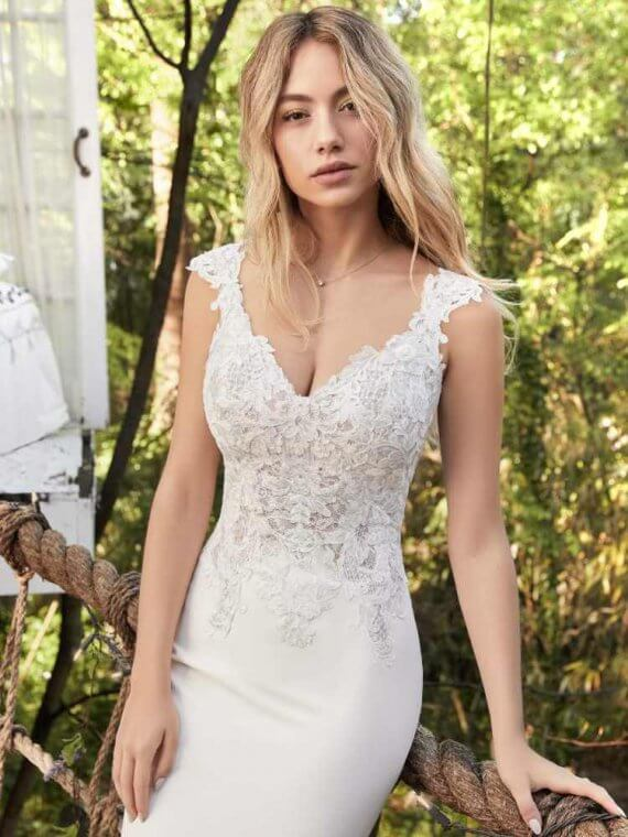 Rebecca ingram sample sale wedding dress cheap discounted amy