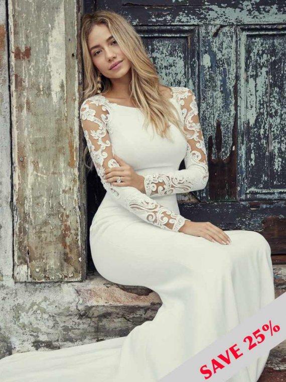 rebecca ingram bethany sample sale wedding dress crepe sussex surrey london