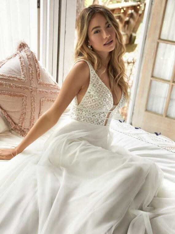 rebecca ingram meadow sample sale wedding dress cheap discounted