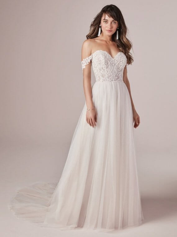 cheap discounted rebecca's ingram sample sale wedding dress