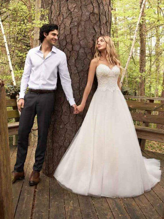 maggie sottero rebecca ingram strapless wedding dress sample sale