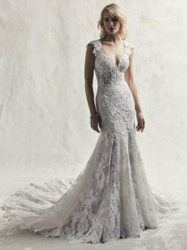 "Maggie Sottero ""Chauncey"" Wedding Dress UK18"