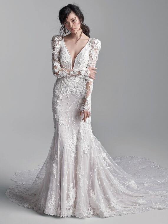 sottero midgley wedding dress with sleeves