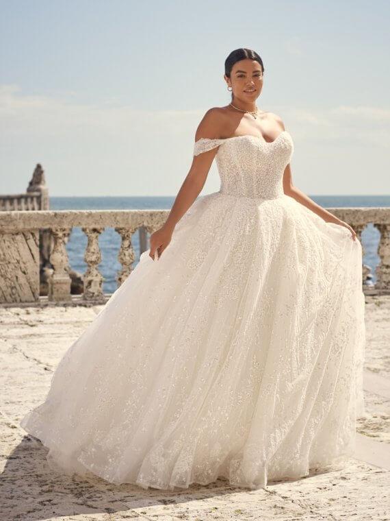 SOTTERO AND MIDGLEY ZARTASHA SAMPLE SALE WEDDING DRESS