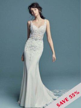"""Maggie Sottero """"Alaina"""" Wedding Dress UK12"""
