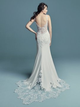 "Maggie Sottero ""Alaina"" Wedding Dress UK12"