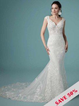 "Maggie Sottero ""Celeste"" Wedding Dress UK16"