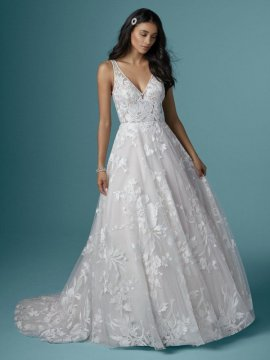 "Maggie Sottero ""Sasha"" Wedding Dress UK14"