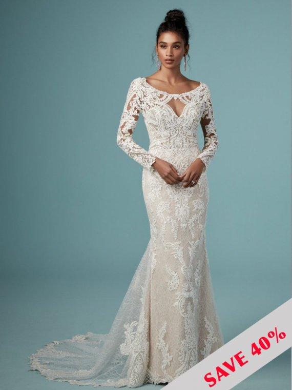 maggie sottero cheyenne wedding dress sample sale