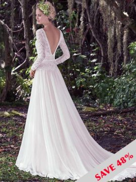 "Maggie Sottero ""Deirdre"" Wedding Dress UK12"