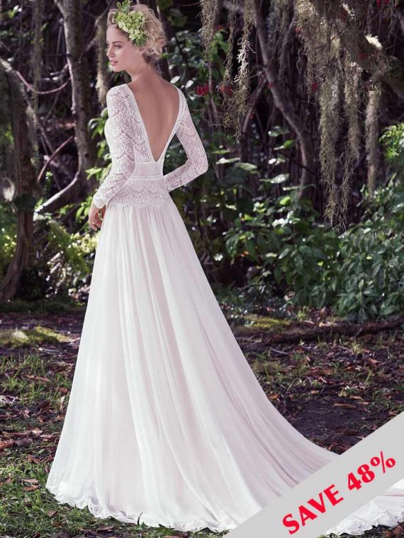 maggie sottero chiffon grecian wedding dress sample sale