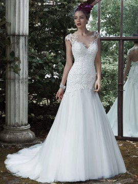 "Maggie Sottero ""Evianna"" Wedding Dress UK14"