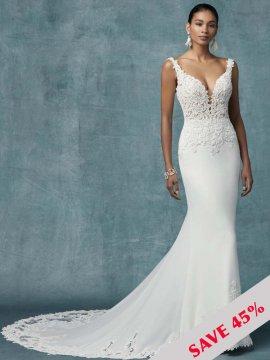 "Maggie Sottero ""Kelsey"" Wedding Dress UK12"