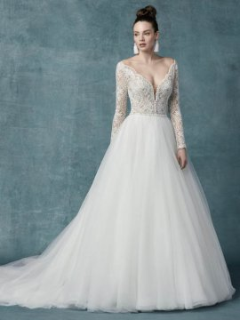 "Maggie Sottero ""Mallory Dawn"" Wedding Dress UK16"