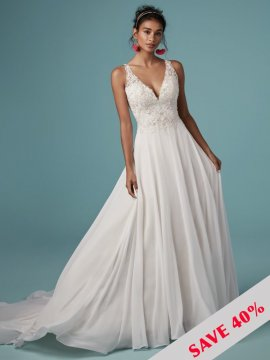 "Maggie Sottero ""Melody"" Wedding Dress UK12"
