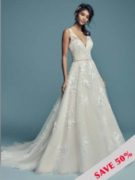 "Maggie Sottero ""Meryl Lynette"" Wedding Dress UK14"