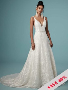 "Maggie Sottero ""Monica"" Wedding Dress UK12"