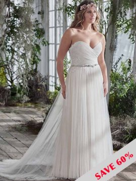 "Maggie Sottero ""Patience"" Wedding Dress UK14"