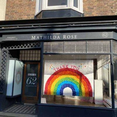 """Somewhere Over the Rainbow…."" #thewindowat62"
