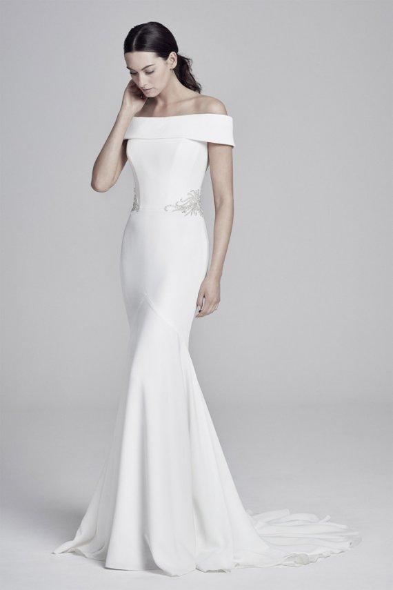 Suzanne Neville Orianna Sussex sale crepe wedding dress