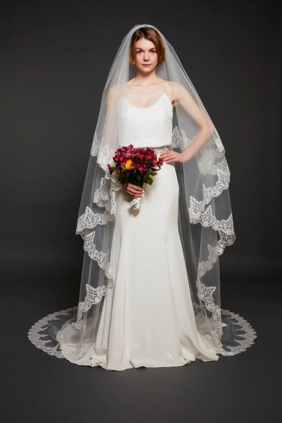 Mathilda Rose Helen Martin sophie lace edged veil