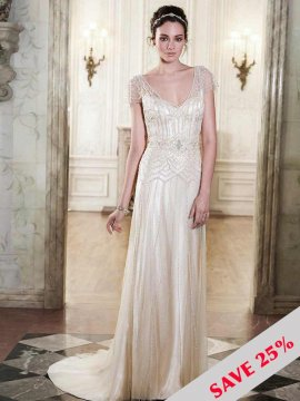"Maggie Sottero ""Ettia"" Wedding Dress UK10"