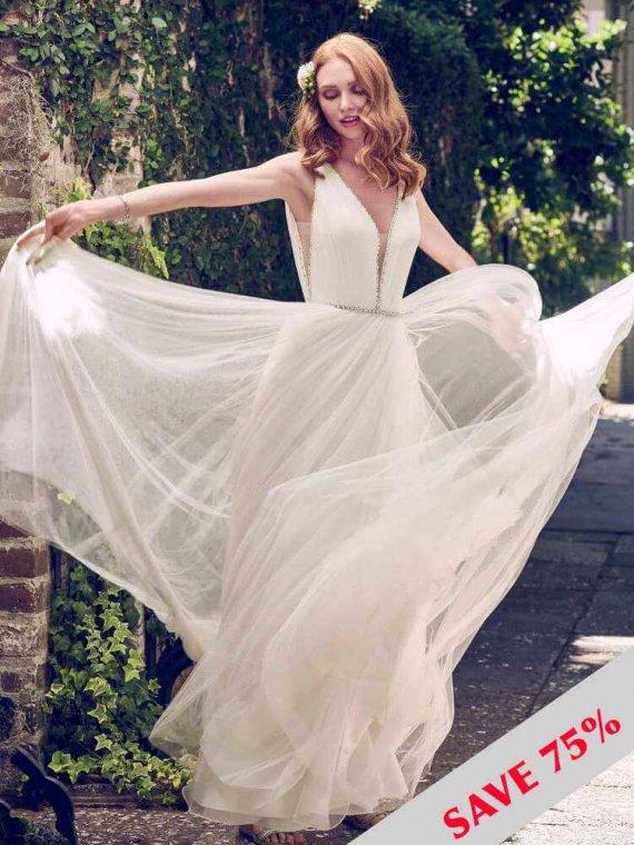 CHEAP MAGGIE SOTTERO REBECCA INGRAM SALE WEDDING DRESS BARGAIN