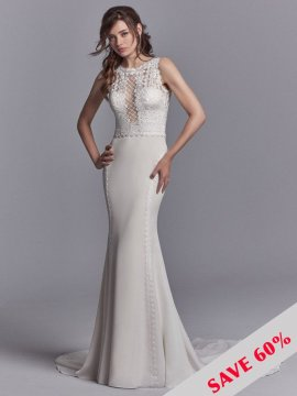 "Sottero & Midgley ""Barrington"" Wedding Dress UK12"