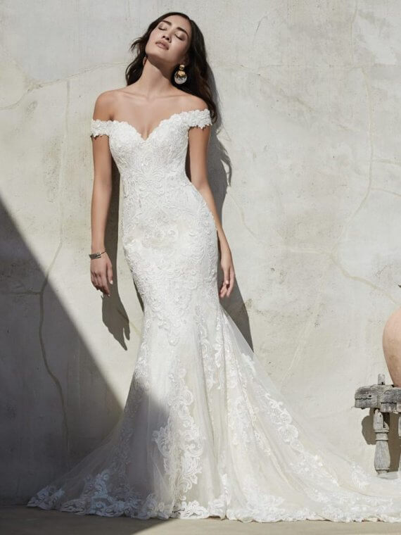 cheap lace wedding dress